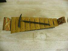 xylophone  bois métal africain 42 cm