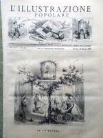 L'illustrazione Popolare 18 Marzo 1877 Genzano Nemi Ariccia Macao Firenze Loggia