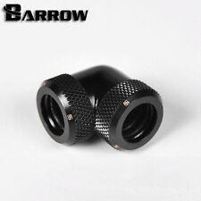"Barrow G1/4"" Matte Black 90 Degree Dual Compression Fitting 12mm Rigid tube- 051"