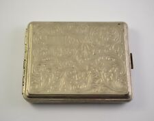 Antique vintage white metal  cigarette cigar case