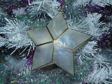 One (1) Real Capiz Star Sea Shell Star Christmas Ornament, Beach Decor Tropical