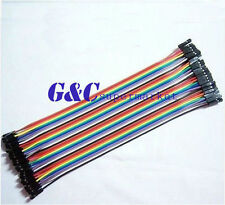 2PCS 40PCS Dupont Wire Color Connector Cable 2.54mm 1P-1P  Arduino GOOD QUALITY