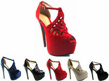 Party Strappy, Ankle Straps Faux Suede Upper Shoes for Women