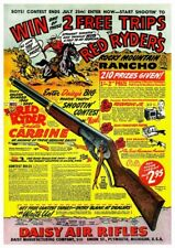 Red Ryder POSTER *VERY LARGE* Vintage Daisy BB Gun Rifle Ad winchester colt nra