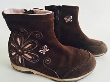 STRIDE RITE Kids Toddler Girls Brown Suede Leather Ankle Boots Shoes Size 9
