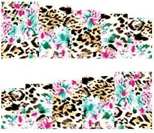 Nail Art Stickers Transfers Decals Leopard Effect (A-117)
