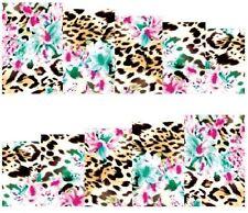 Nail Art Pegatinas Transfers Calcomanías efecto de leopardo (A-117)