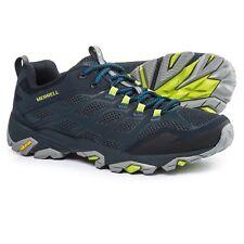 Merrell Moab FST 10 1/2 Hiking Shoes Navy Blue Walking Trail Vibram Mens
