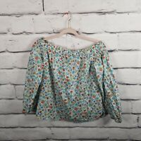 Liberty Art Fabrics for J.Crew Womens Sz 2 Peasant Top Floral Blouse