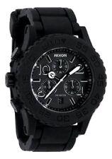NWOT Nixon Womens' A309000 42-20 Black Rubber Strap Chronograph Watch