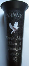NANNY Memorial Flower Vase White Dove In Loving Memory Grave Spike