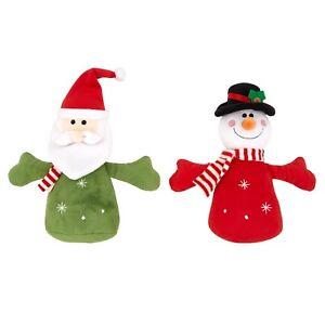 2 x Good Boy Christmas Festive Singing Chum Plush Dog Puppy Toy ONE OF EACH