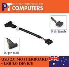 USB 3.0 20-Pin Male Header to USB 2.0 9-pin female Adapter for motherboard