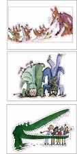 CHRISTMAS STOCKING FILLERS ROALD DAHL 3X A4 sheets of  cut to shape stickers B