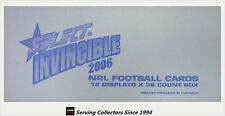FACTORY CASE!! Select 2006 NRL INVINCIBLES FACTORY CASE (12 Boxes + Case Card)