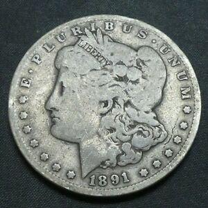 1891 CC $1 Morgan Silver Dollar US Mint Coin