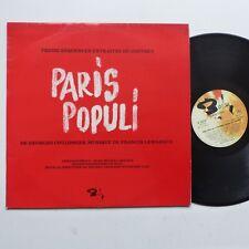 Paris populi COULONGES LEMARQUE M LEGRAND REGGIANI GRECO GUICHARD LAMA Promo RRT