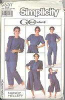 Simplicity 9337 M/MP Pull-On Pants and Culottes, Top, Vest, Unlined Jacket 8-14