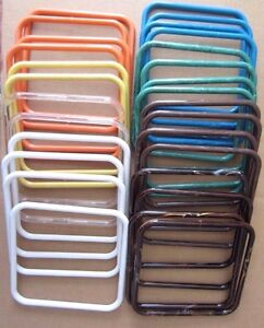 "Lot of 14 Pair Assorted 7"" Square Thin Plastic Macrame Purse Handles Craft DIY"
