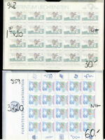Liechtenstein Stamps Complete Set of Sheets 16x Sets Scott $925