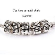 5 Pcs Stopper Beads Spacer Clips Locks Beads Charm European Beads Fit Bracelet