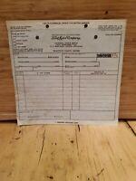VINTAGE FoMoCo Ford Dealer Parts Auto Slip Order Form 1960s Unused NOS DEALER
