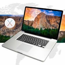 "Apple MacBook Pro 15"" A1286 Core i5 2.66GHz 4GB RAM 1TB HD OSX 2015 Webcam"