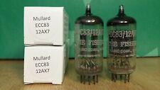 Pair of Mullard ECC83 12AX7 I61 1963 Vacuum Tubes
