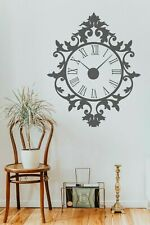 Wall Clock time Sticker vintage pattern Decal Mechanism home Decor