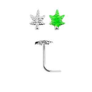 Nose bone stud Sterling Silver with a pineapple shape 22 Gauge