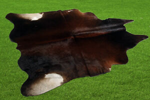 "100% New Cowhide Rugs Area Cow Skin Leather (44"" x 45"") Cow hide ES-2968"