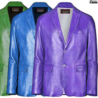 Men's High Fashion Premium Quality Stylish Blazer Coat made wth Genuine Leather