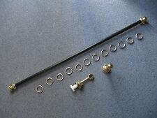 Gardinenstange Stilgarnitur Vorhangstange schwarz 120 / 30 cm Ringe Enden gold
