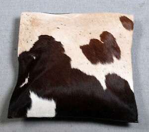 NEW COW HIDE LEATHER CUSHION COVER RUG COW SKIN Cushion Pillow Covers C-6830