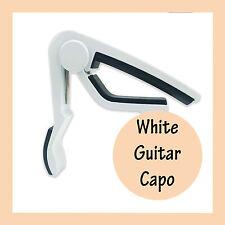 White Aluminum  Guitar Capo Spring Trigger Electric Acoustic Clamp Quick Release