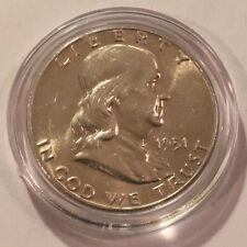 """1951 50c  FRANKLIN SILVER HALF DOLLAR """"GEM"""" BU UNCIRCULATED  #3778"""