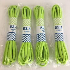 "Nike Marathon Kid Shoe Laces 52.4"" 4 Pairs Neon Green Sport Athletic Mens Womens"