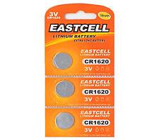 3 x CR1620 3V Lithium Knopfzelle 70 mAh ( 1 Blistercard a 3 Batterien ) EASTCELL
