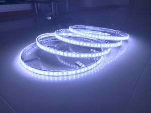 """4x17.5"""" Double Row Pure White Brightest LED Wheel Ring Lights Switch Waterproof"""