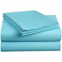 Aqua Blue AU Choice Bedding Sheet Collection 1000TC Egyptian Cotton All Size