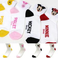 4 Pairs Disney Animation Socks Women Girls Big Kids Mickey Cute Cartoon Socks