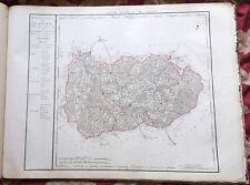 Dépt 54 - Carte Originale de 1790-1818 Gravure sur Cuivre Aquarellée 73 x 56 cm