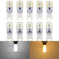 10pcs Dimmable 5W G9 Silicone Crystal LED Corn Bulb SpotLight White Lamp AC 220V