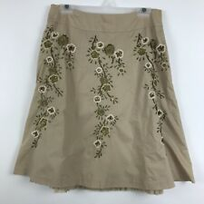 Talbots Size 10 A-Line Skirt Ruffle Petticoat Sequin Bead Embroidery Floral NWOT