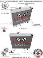 "4 Row RN Champion Radiator 20/"" Core for 1965-1969 1977-1979 Buick Skylark"