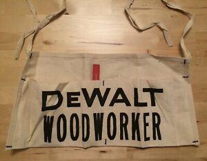 NOS Vintage DeWalt Woodworker Tools Nail Pouch Apron w/ 36 Page Booklet & Pencil