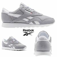 Reebok Classic Nylon Neutrals Running Shoes Sneakers Grey BS9376 SZ 4-12.5