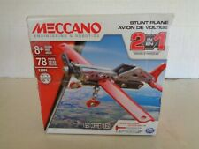 Meccano 2-in-1 Stunt Plane Model Building Kit  125