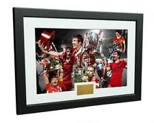 """Signed """"KINGS OF EUROPE"""" Liverpool FC Gerrard Henderson Photo Picture Frame Gift"""