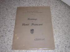 1913.hommage à Henri Poincaré.Nancy.mathématique physique